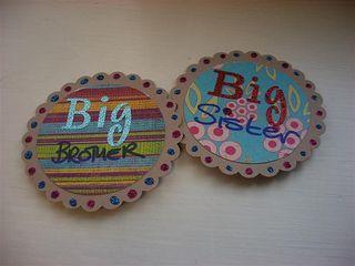 big sis big brov  badges